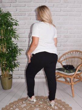 Berlin, pantalon sportswear, Lagenlook noir dos