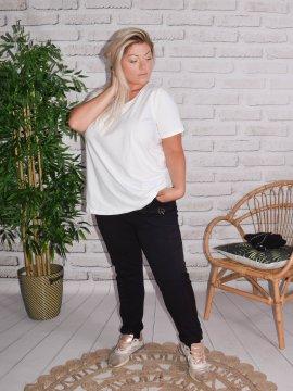 Berlin, pantalon sportswear, Lagenlook noir face