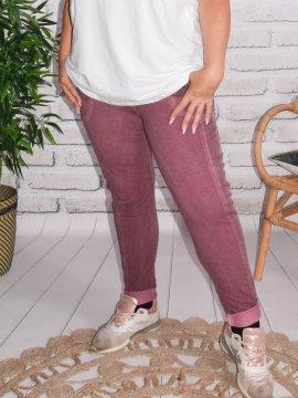 Berlin, pantalon sportswear, Lagenlook aubergine zoom