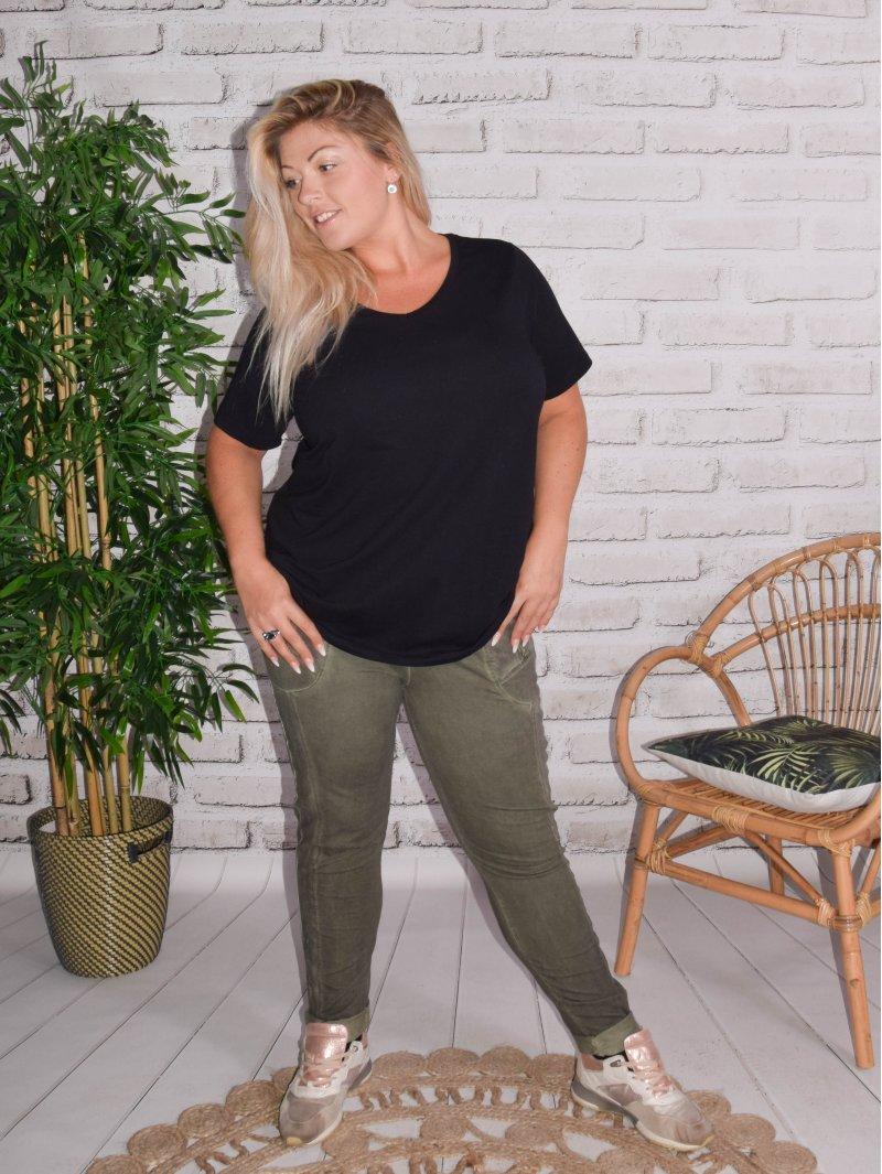Berlin, pantalon sportswear, Lagenlook kaki 4445