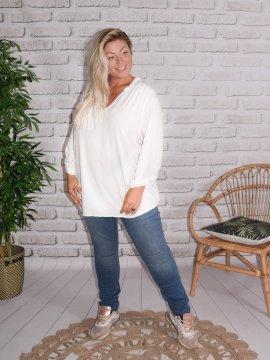 Alex, chemise fluide, Lagenlook blanc 77