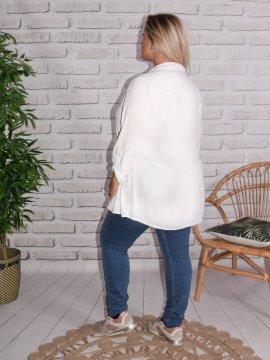 Alex, chemise fluide, Lagenlook blanc 88
