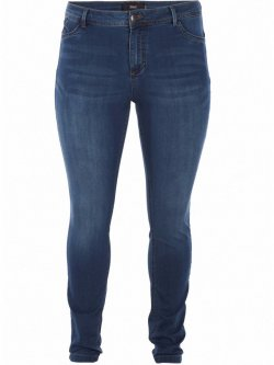 Jean slim Nile, blue denim, marque Zizzi
