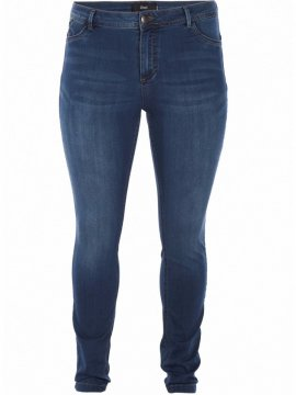 Jean slim Nile, blue denim, marque Zizzi avant