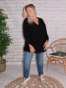 Alex, chemise fluide, Lagenlook noir 255654