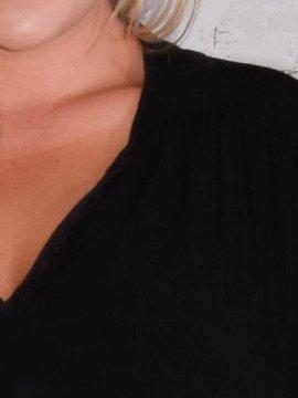 Alex, chemise fluide, Lagenlook noir col 475498