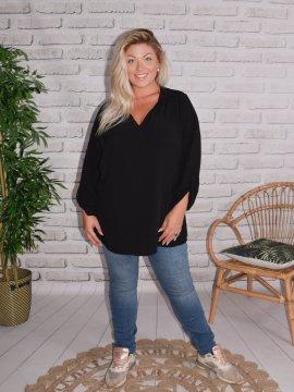 Alex, chemise fluide, Lagenlook noir 15647