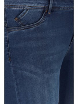 Jean slim Nile, blue denim, marque Zizzi zoom avant