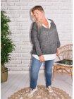 Amandine, pull grande taille gris 684