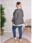 Amandine, pull grande taille gris 46868