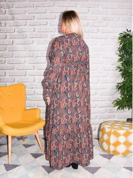 Senlis, Longue robe bohème grande taille derriere