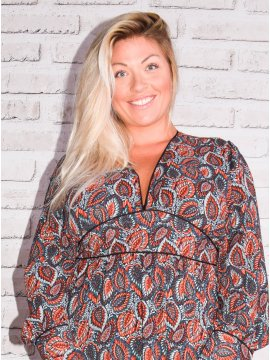 Senlis, Longue robe bohème grande taille 454