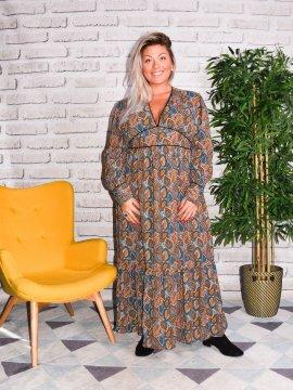 Senlis, Longue robe bohème grande taille 68748