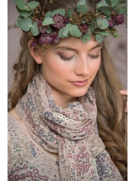 Foulard Sweet and Flowery, marque JDL zoom