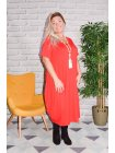 Yvanna, robe viscose, grande taille rouge profil