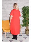 Yvanna, robe viscose, grande taille rouge dos