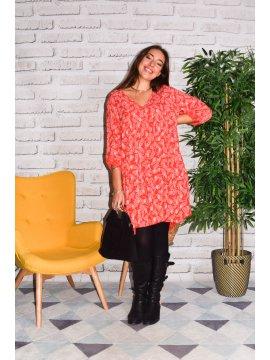 Saint Malo, robe Lagenlook rouge