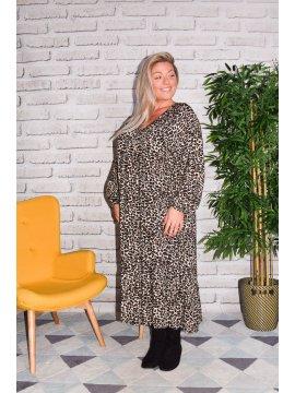 Jungle, longue robe bohème C'Melodie beige face