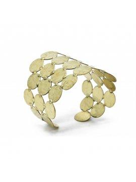 Bracelet manchette dorée