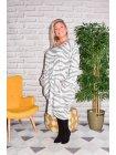 Dinard, robe originale Lagenlook blanc face
