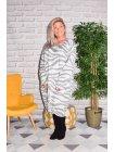 Dinard, robe originale Lagenlook blanc profil