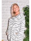Dinard, robe originale Lagenlook blanc zoom