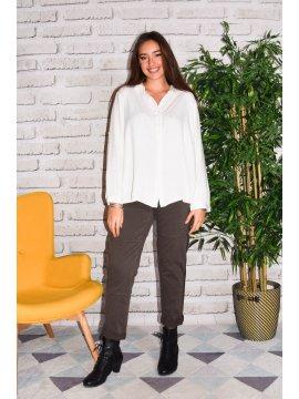 Dijon, chemise fluide grande taille profil