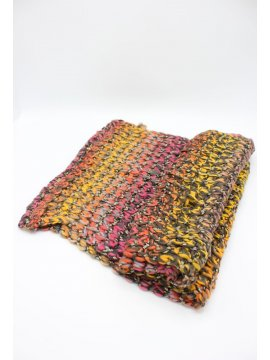 Snood maille plat rouge