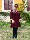 Bruges, robe dentelle bohème grande taille bordeaux coté