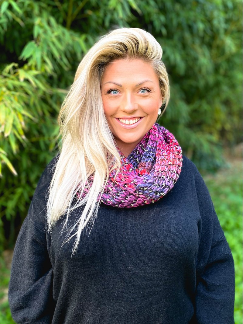 Snood maille rouge