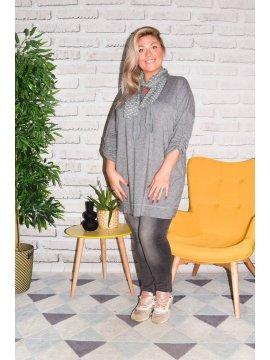 Paimpol, tunique grande taille gris avant