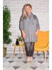 Paimpol, tunique grande taille gris