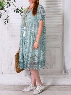 Marianne, robe bohème - vert d'eau