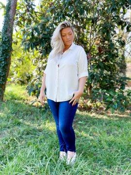 Dijon, chemise fluide grande taille face