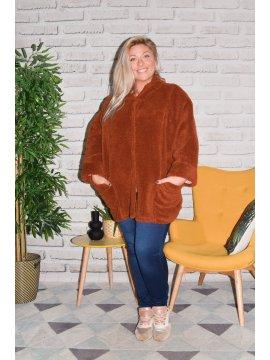 Manteau Nancy grande taille face