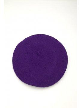 Beret classique violet