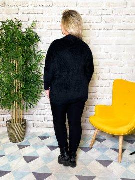 Stephanie pull duveteux grande taille noir dos