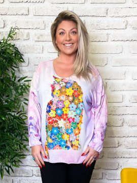 Pull tunique Betty chat grande taille zoom