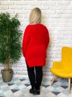 Pull tunique Estelle grande taille rouge dos