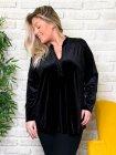 Tunique jersey velours noir zoom