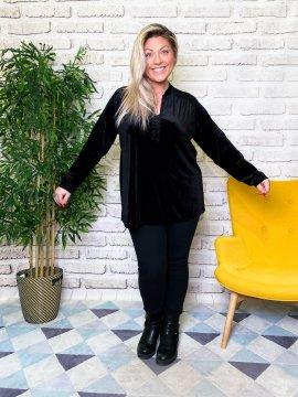 Tunique jersey velours noir face