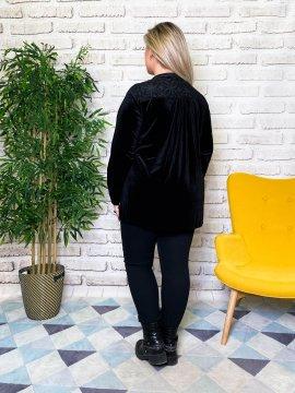 Tunique jersey velours noir dos