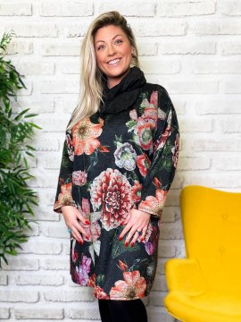 Robe Collioure fleurs zoom