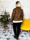 Perfecto imprimé léopard grande taille cuivre dos