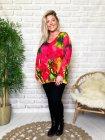 Betty fleurs pull tunique grande taille face