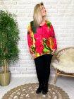 Betty fleurs pull tunique grande taille profil