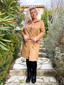 Trench aspect daim grande taille 5645684