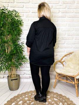 Myriam chemise grande taille coton noir dos