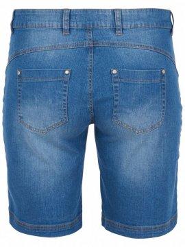 Jolyn, short jean, marque Zizzi dos
