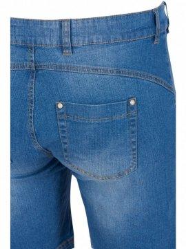 Jolyn, short jean, marque Zizzi zoom